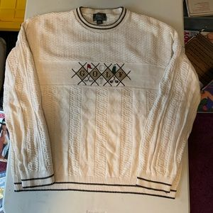 Golf Sweater XL embroidered design
